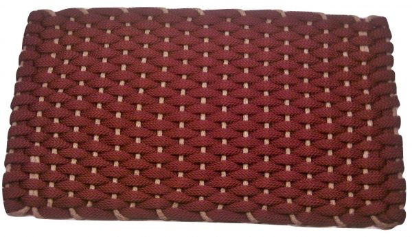 #350 Rockport Rope Doormat Wine with Tan insert