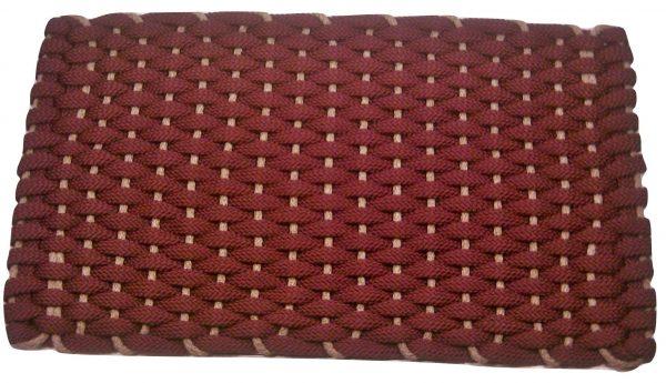 #350 Rockport Rope Doormat Wine with Tan insert