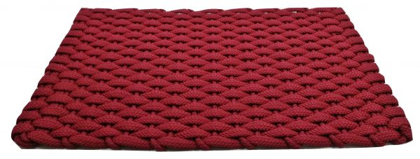 #351 Rockport Rope Doormat Red with Red insert
