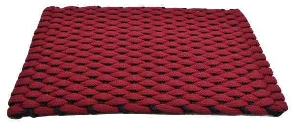 Rockport Rope Kitchen Comfort Mat Red with Navy insert