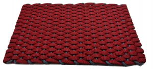 #355 Rockport Kitchen Comfort Mat Red with Light Blue insert