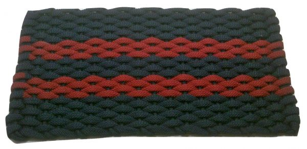 #357 Rockport Rope Mat Navy 2 Red Stripes