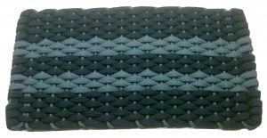 #362 Rockport Rope mat Navy 2 Light blue stripes Light blue insert