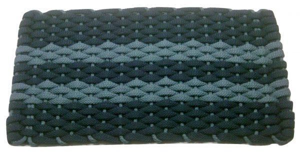 #362 Rockport Rope mat Navy 2 Light blue stripes Light blue insert
