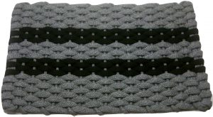 #383 Rockport Rope Mat Gray 2 Black Stripes