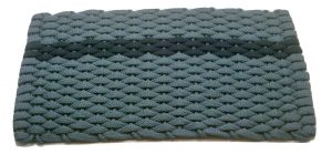 #396 Rockport Rope Mat Light Blue offset Navy stripe