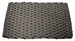 #425 Rockport Rope Mat Gray with Brown insert