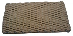 Rockport Ultra Plush Pet Mat Tan with Gray insert