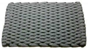 Rockport Ultra Plush Rope Mat Gray with Brown insert