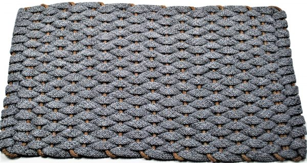 Rockport Ultra Plush Rope Mat Gray with Tan insert