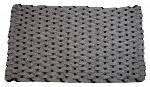 Rockport Ultra Plush Rope Mat Gray Insert Navy