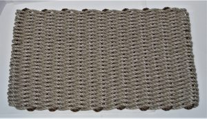 Rockport Lobster Pot Rope Doormat Tan Brown insert
