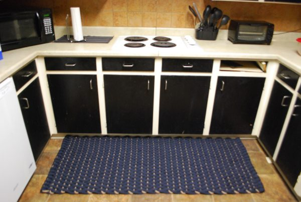 Rockport Rope Kitchen Comfort Mat Navy with Tan insert